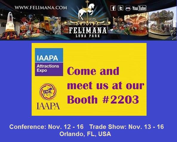 Felimana Luna Park en la Exposición de Atracciones IAAPA 2018